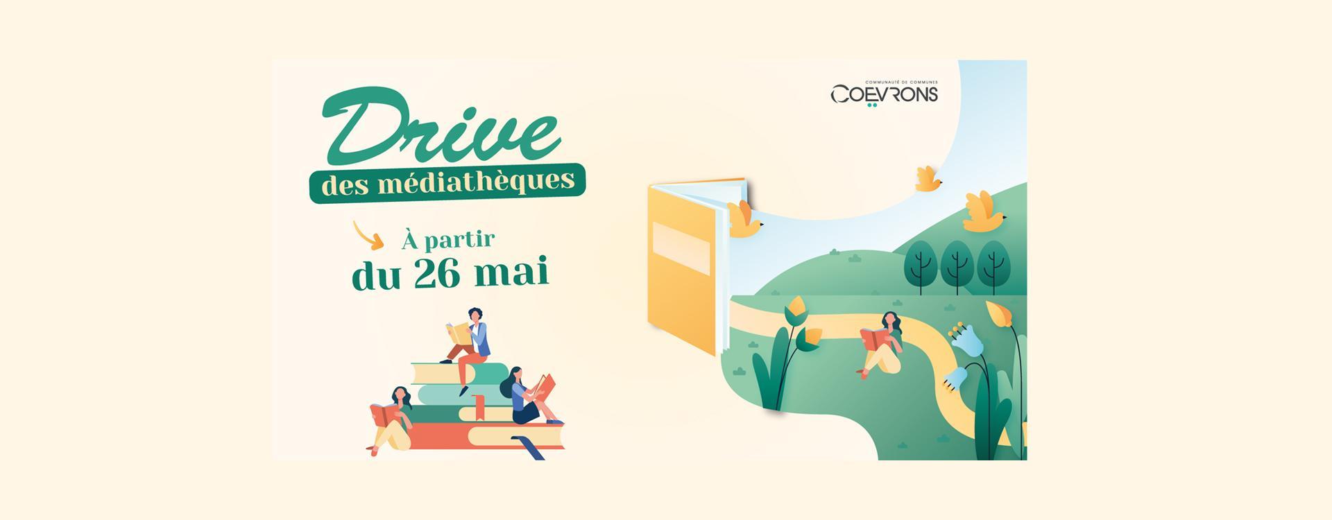 Drive Médiathèque Coevrons Mayenne