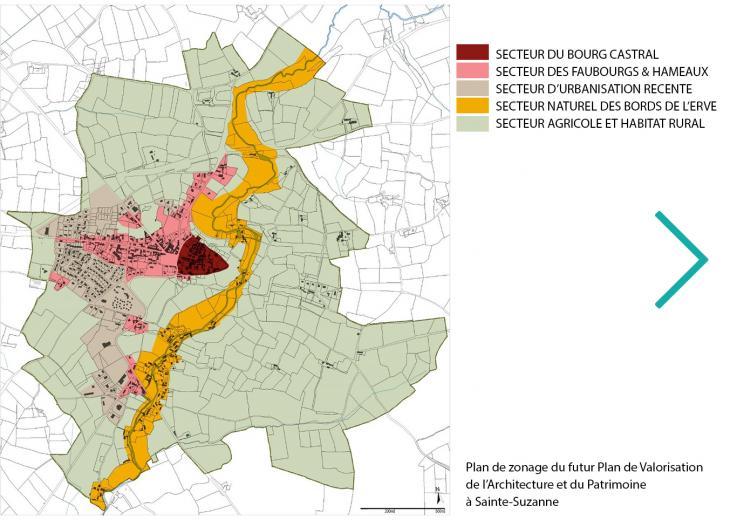 Plan Sainte-Suzanne dans les Coëvrons