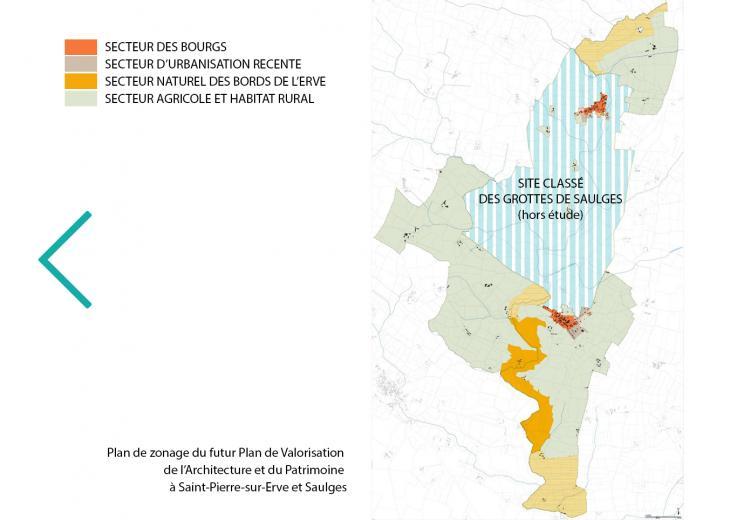 Plan de Saulges et Saint-Pierre-sur-Erve dans les Coëvrons