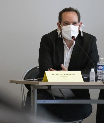 Joël Balandraud au bureau communautaire de la Communauté de communes des Coëvrons
