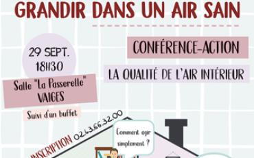 Conférence action Qualité de l'Air Intérieur