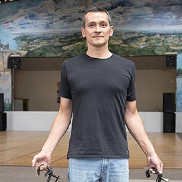 Ferdynand Dewatine, régisseur technique au Pôle Culturel des Coëvrons