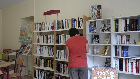 Bibliothèque à Mézangers