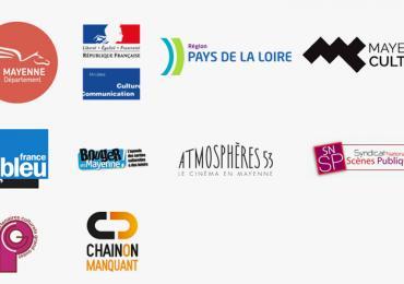 Logos des partenaires de la saison culturelle des Coevrons